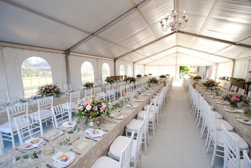 帐篷婚礼 免版税库存图片
