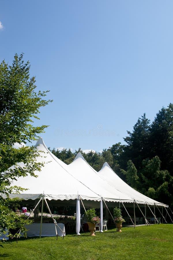 帐篷婚礼 库存图片