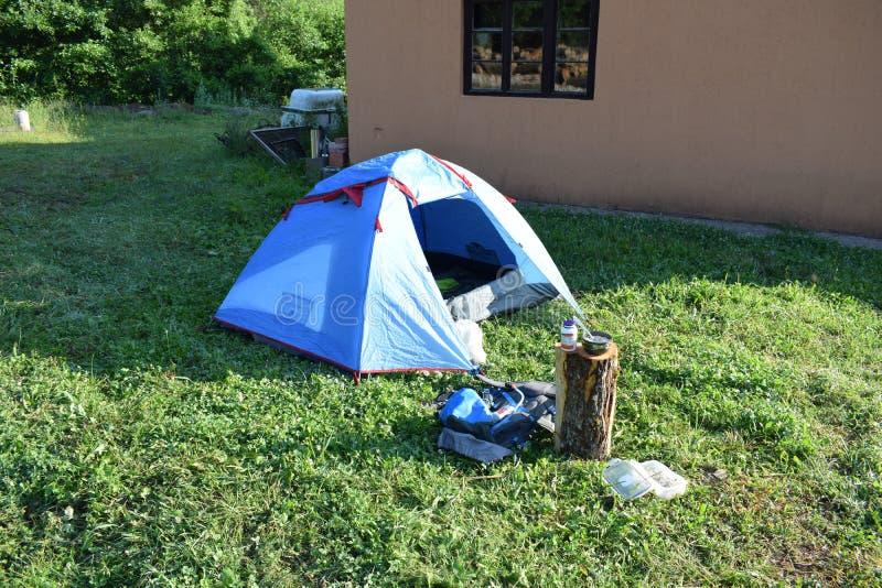 帐篷我睡觉了的地方 库存照片