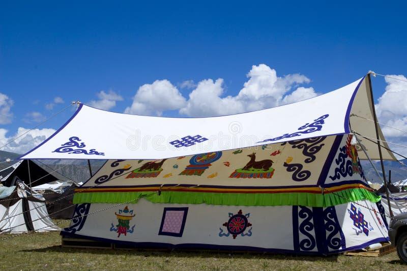 帐篷西藏 免版税库存图片