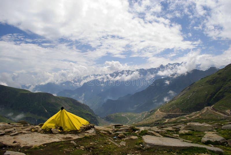 帐篷黄色 图库摄影