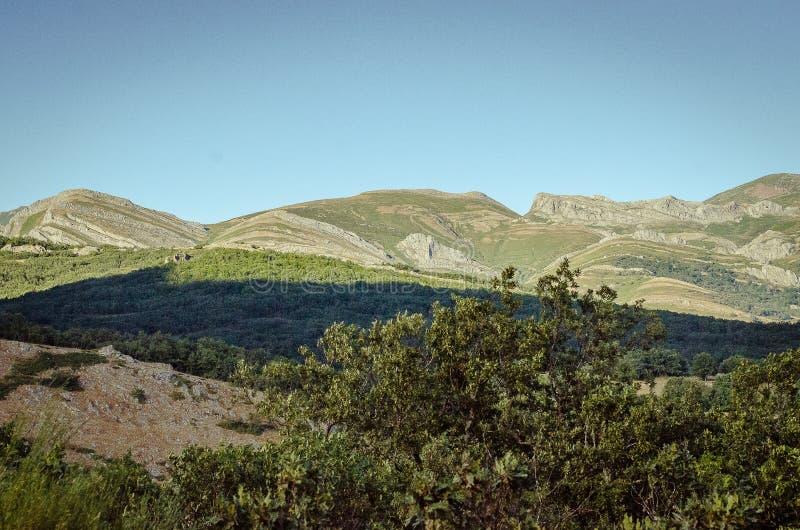 帕伦西亚丰特斯Carrionas自然公园山  E 库存图片