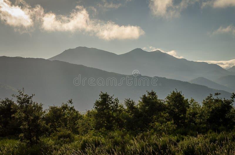帕伦西亚丰特斯Carrionas自然公园山  帕伦西亚 图库摄影