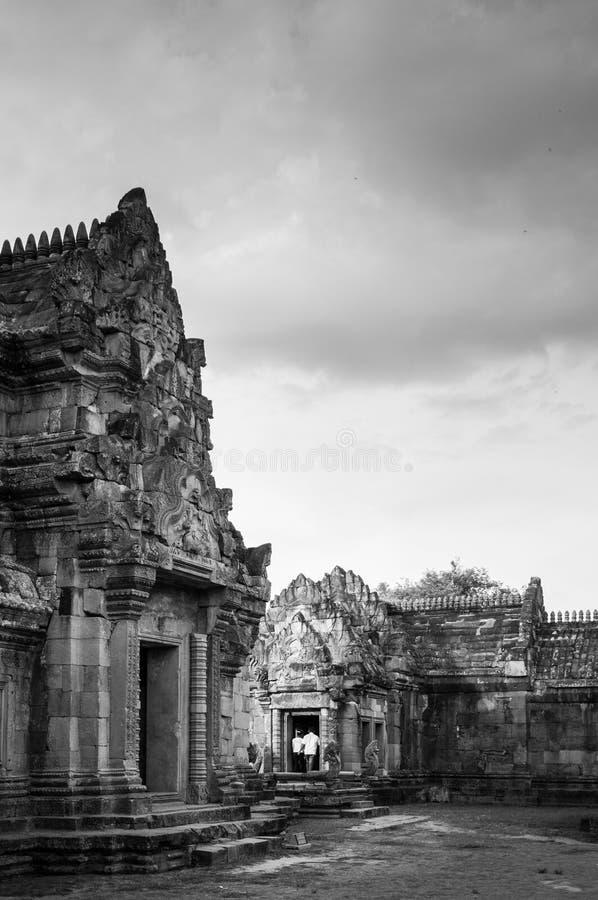 帕农主要寺庙在武里喃府,泰国敲响了城堡 库存图片