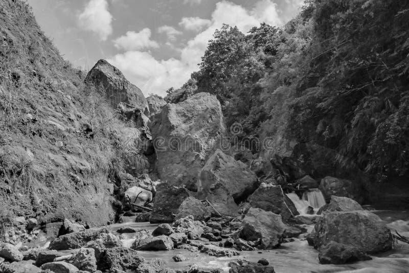 帕加尔秋天,Sapang河起点 免版税库存照片