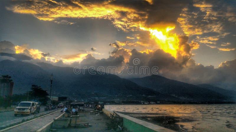 帕卢,中心苏拉威西岛印度尼西亚 免版税库存照片