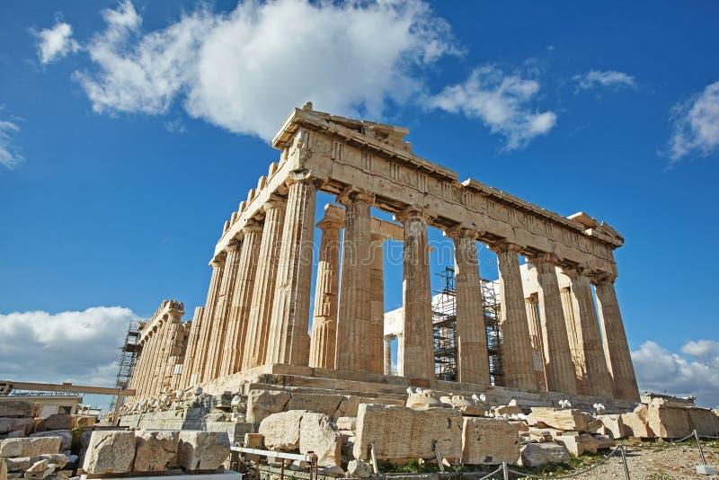 帕台农神庙在Akropolis,雅典,希腊 库存照片