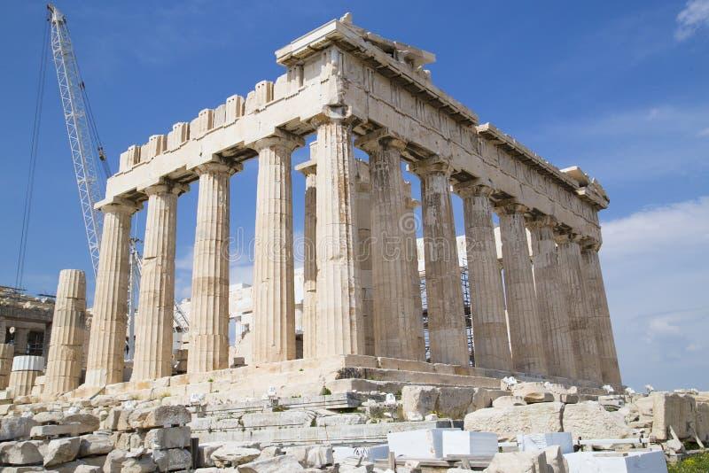 帕台农神庙寺庙在雅典 库存照片