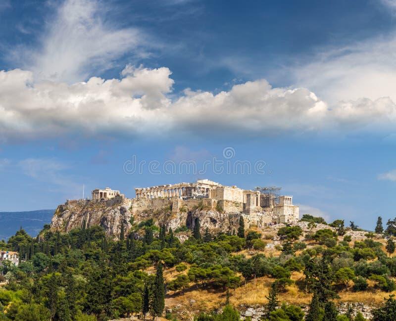 帕台农神庙寺庙看法在亚典人上城,雅典的 库存图片