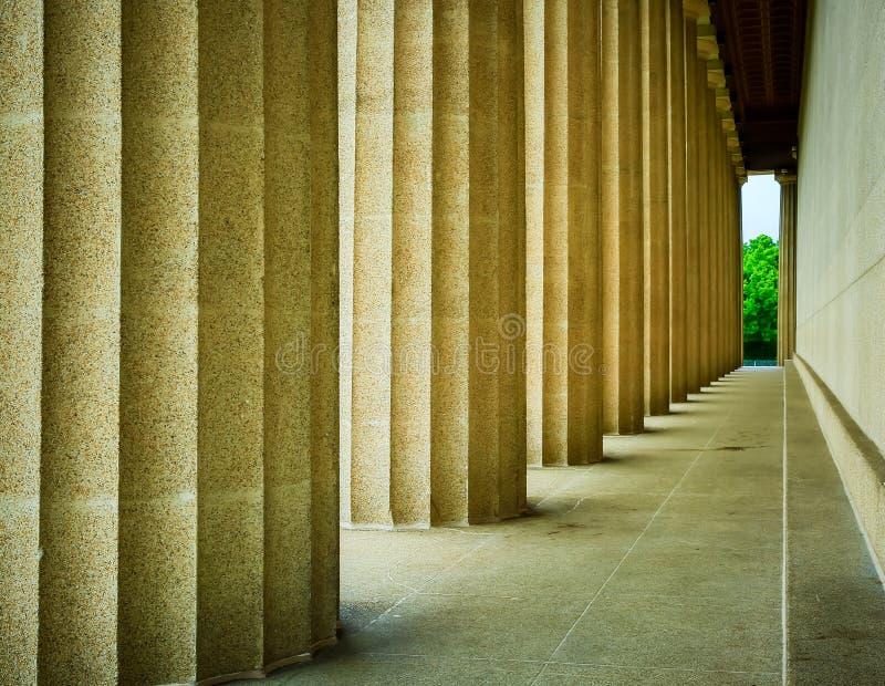 帕台农神庙的专栏 免版税库存图片