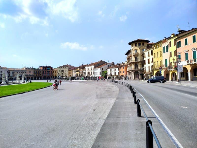 帕多瓦的'河谷草地广场'正方形意大利 免版税库存照片