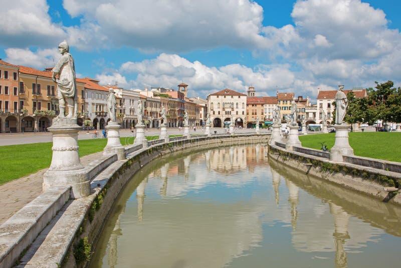帕多瓦,意大利- 2014年9月10日:普拉托della瓦尔 免版税库存照片