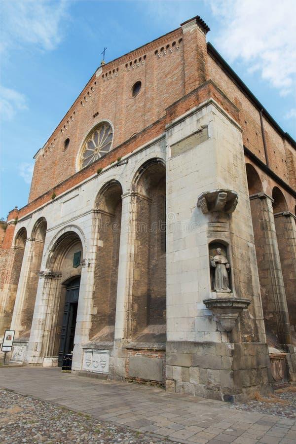 帕多瓦-教会基耶萨degli Eremitani (隐士的教会) 免版税库存照片