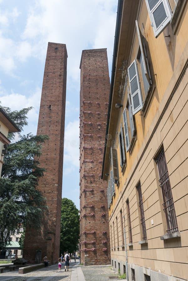 帕尔瓦(意大利) :中世纪塔 库存图片