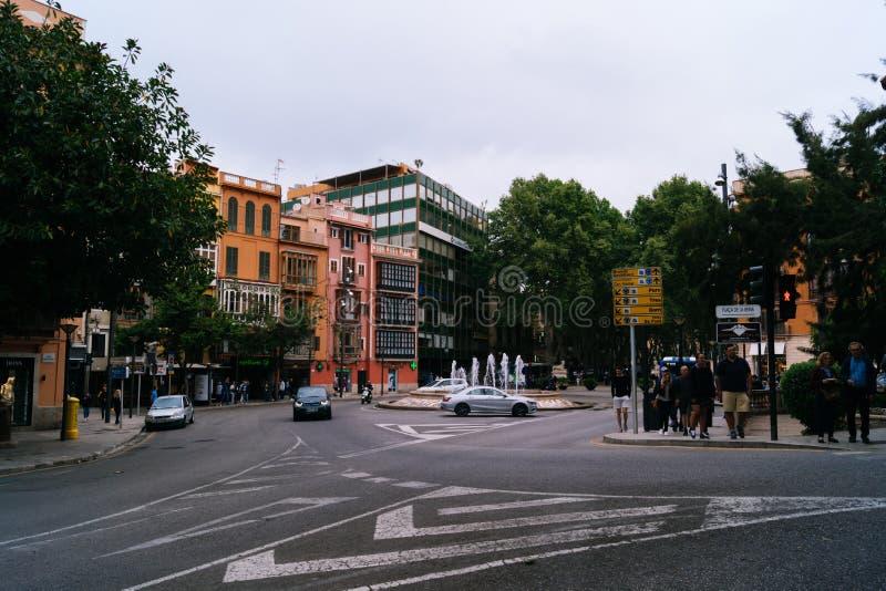 帕尔马的市中心 免版税图库摄影