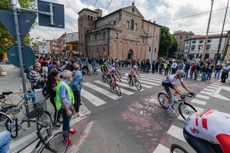 帕尔马,意大利- 2019年5月22日:环意自行车赛 免版税库存照片