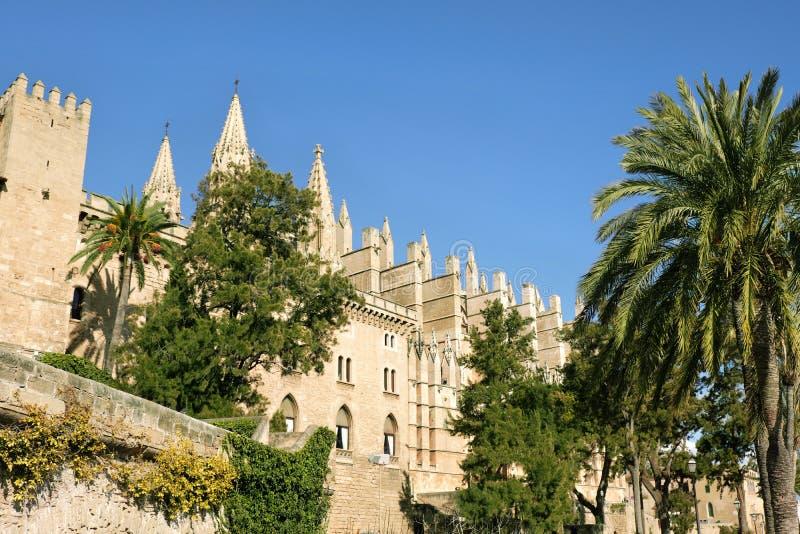 帕尔马,西班牙圣玛丽亚大教堂  库存图片