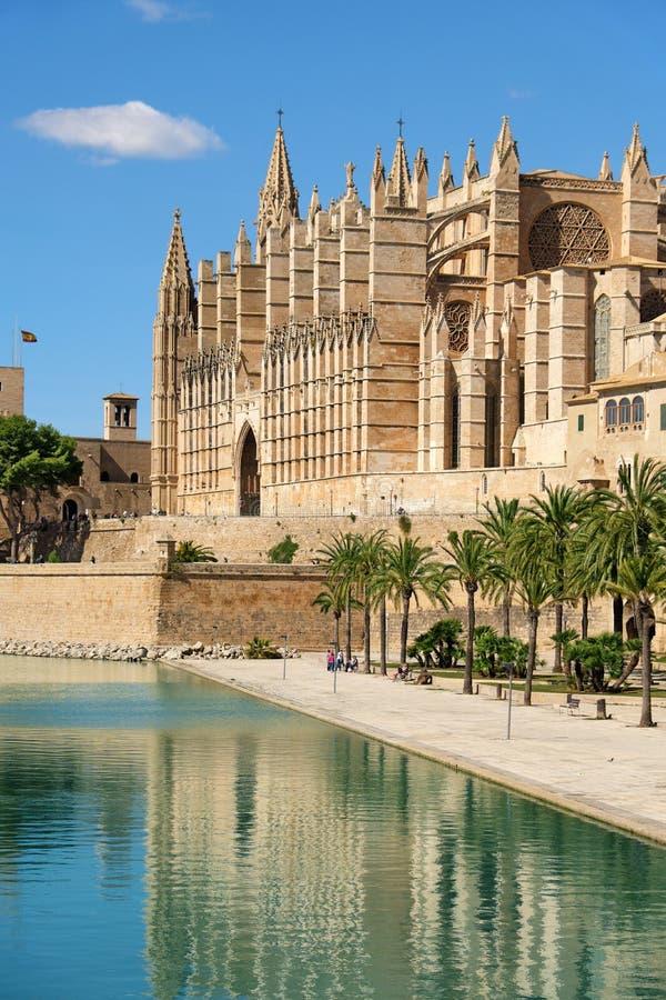 帕尔马,西班牙圣玛丽亚大教堂  免版税图库摄影