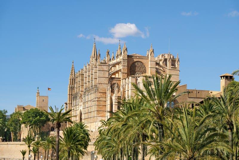 帕尔马,西班牙圣玛丽亚大教堂  免版税库存图片