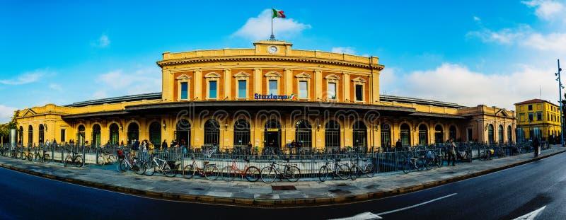帕尔马Stazione在伊米莉亚罗马甘,北意大利 免版税库存图片