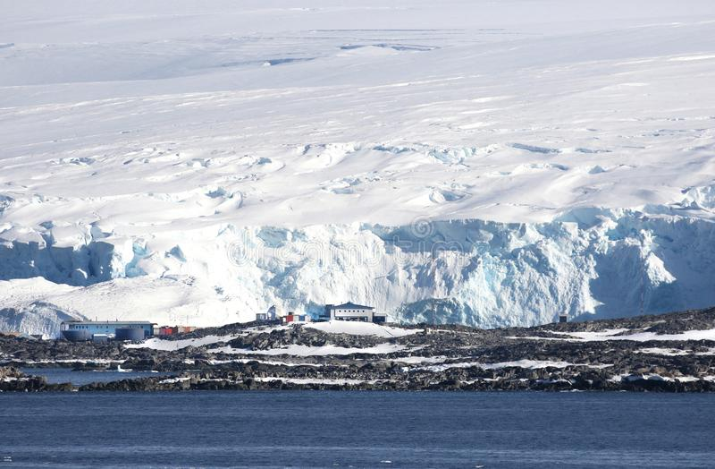 帕尔默驻地,美国南极研究工作站 南极半岛 库存照片