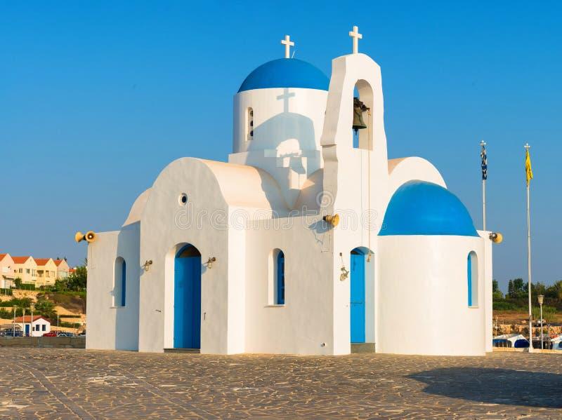 贴水帕帕佐普洛斯(圣尼古拉斯教会),普罗塔拉斯,塞浦路斯 免版税库存照片