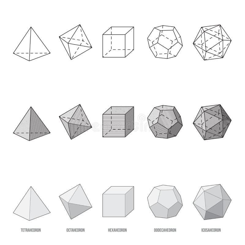 帕拉图式的固体,例证 皇族释放例证