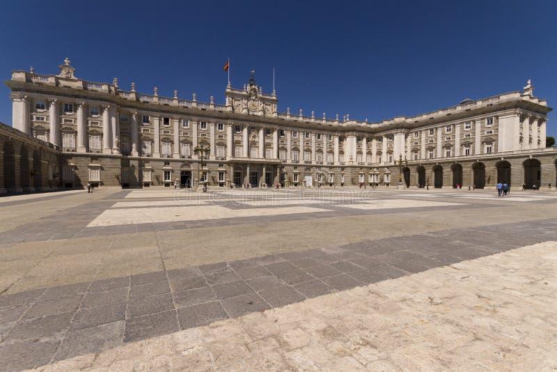 帕拉西奥真正在马德里西班牙 免版税库存图片
