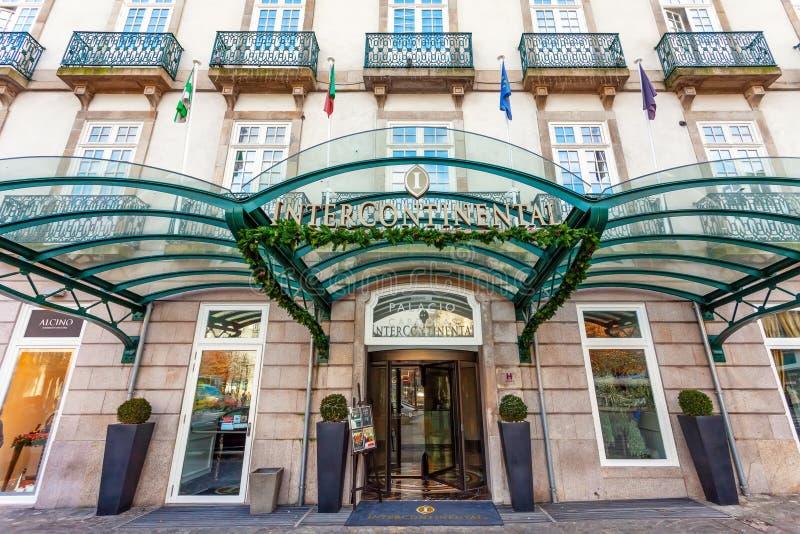 帕拉西奥das Cardosas洲际的旅馆的入口 图库摄影