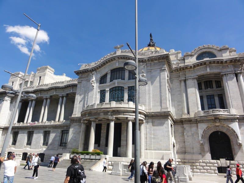 帕拉西奥de贝拉斯阿特斯–Ciudad de墨西哥–墨西哥 免版税库存照片