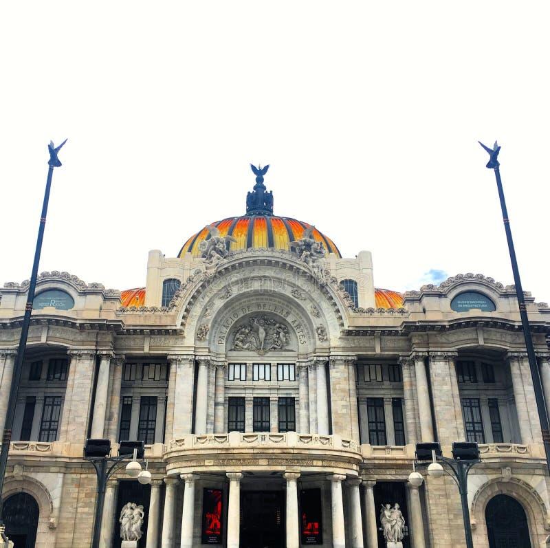 帕拉西奥de贝拉斯阿特斯在墨西哥城 库存图片