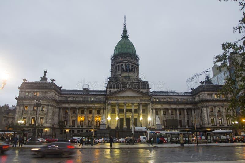 帕拉西奥del大会报建立布宜诺斯艾利斯政府蒙特塞拉特阿根廷拉美南美的Congress好 免版税库存图片