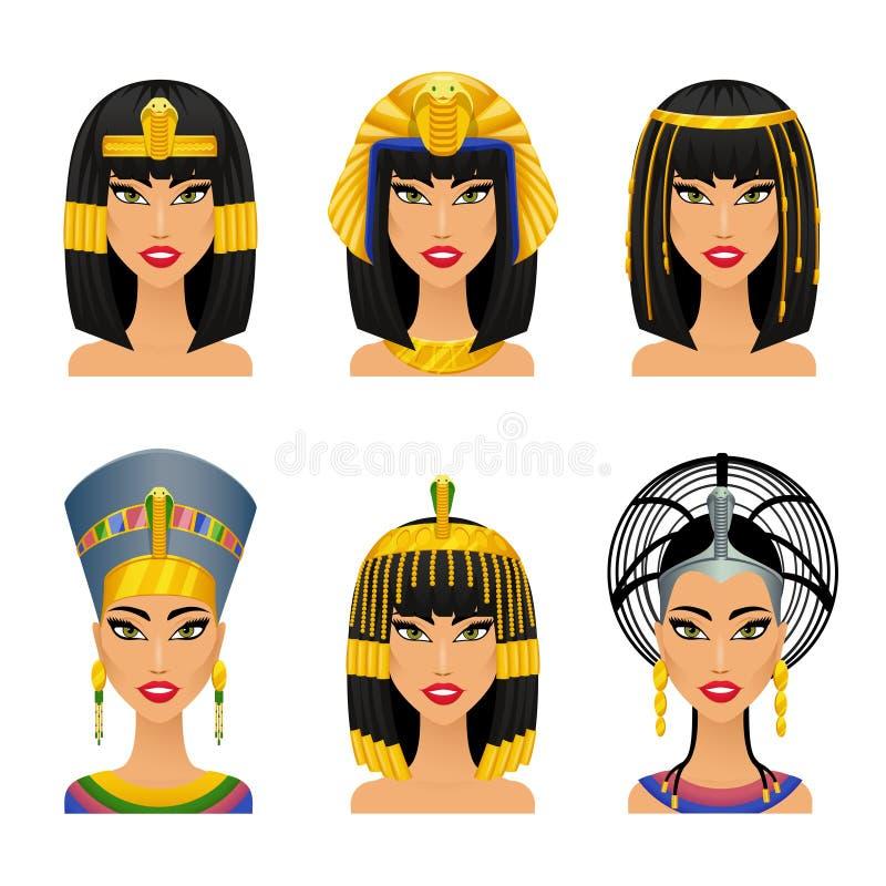 帕特拉埃及人女王/王后 库存例证