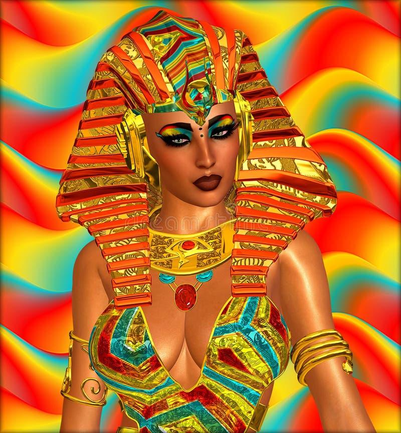 帕特拉或任何埃及妇女法老王 库存例证
