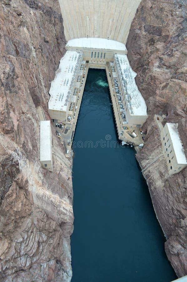 从帕特Tillman纪念品桥梁的胡佛水坝视图 图库摄影