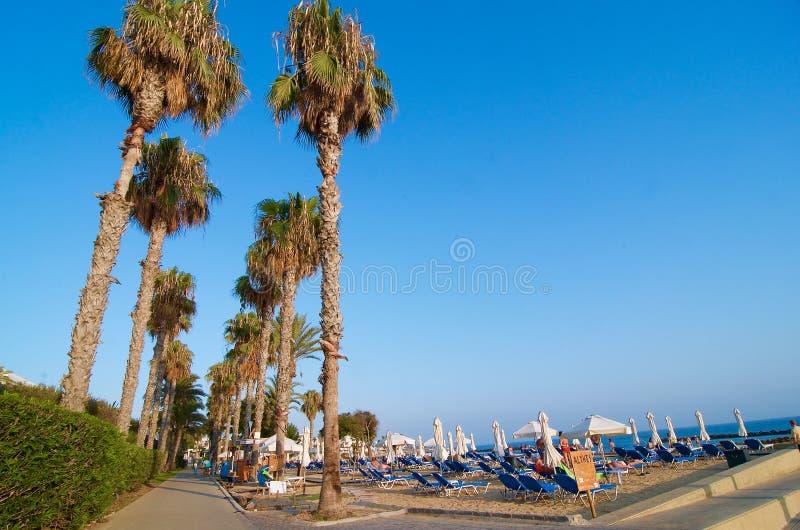 帕福斯海湾-塞浦路斯 库存照片