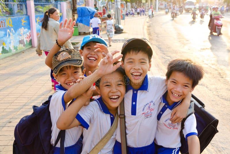 愉快的越南男孩 库存照片