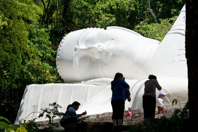 睡觉的菩萨,越南 免版税库存图片