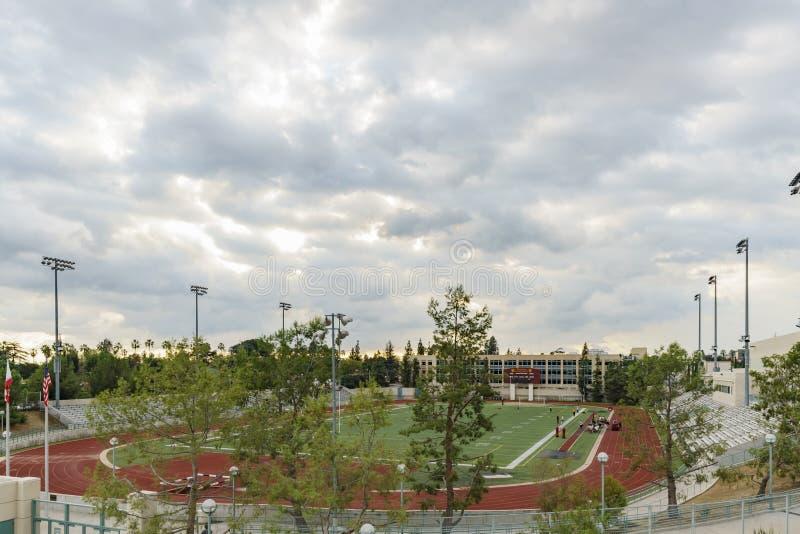 帕萨迪纳市立学院美丽的校园  免版税库存图片