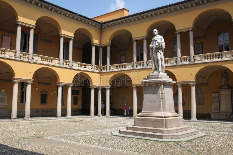 帕维亚大学,意大利 免版税库存图片