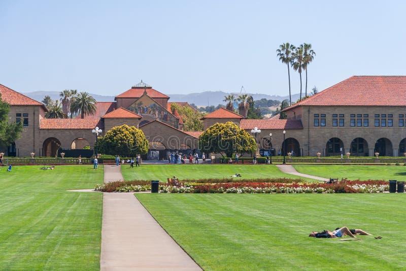 帕洛阿尔托, CA/USA -大约2011年6月:史丹福大学校园在帕洛阿尔托,加利福尼亚 免版税库存图片