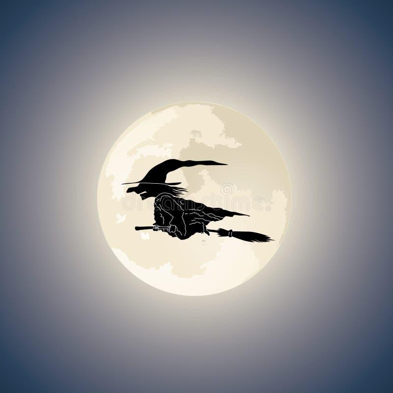 帚柄黑暗的向量巫婆 向量例证