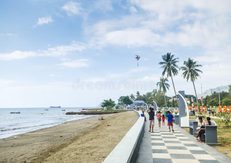 帝力海边在东帝汶 库存图片