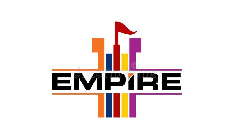 帝国商标设计模板 皇族释放例证