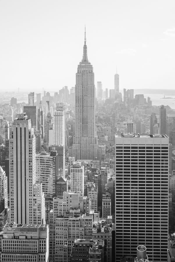 帝国大厦和曼哈顿中城地平线,在纽约 库存图片