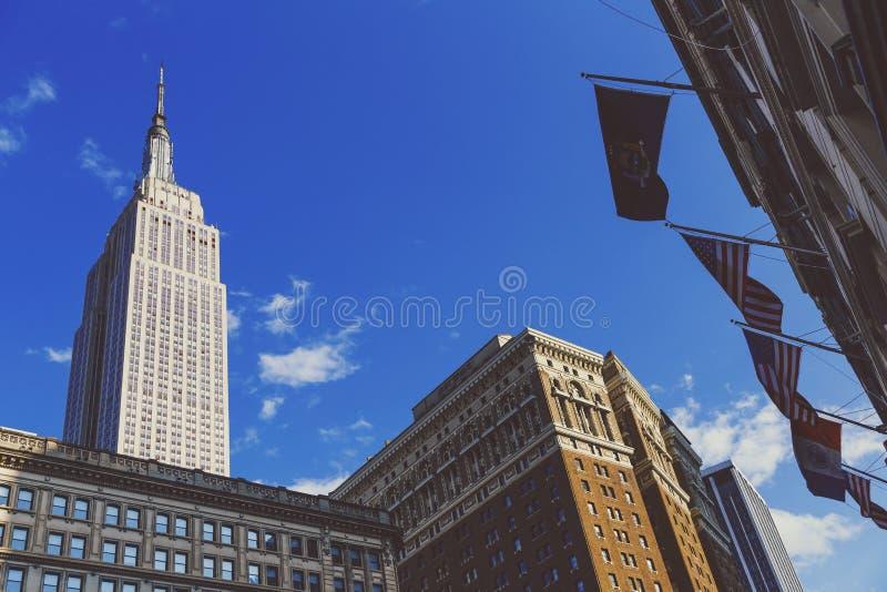 帝国大厦的看法如被看见从先驱广场  库存照片