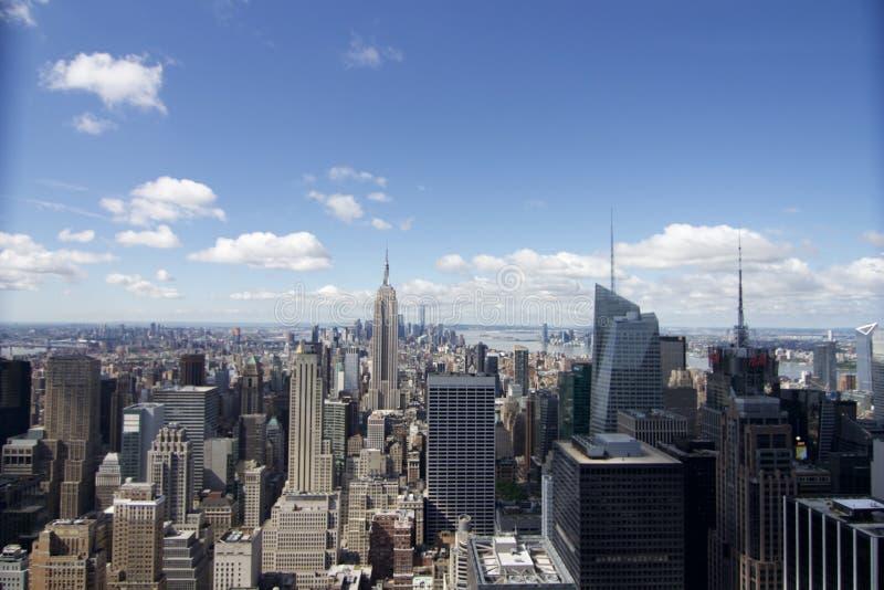 帝国大厦-岩石的纽约- vue depuis le top 免版税库存照片