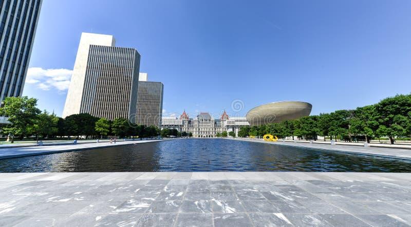 帝国状态广场在阿尔巴尼,纽约 免版税库存照片