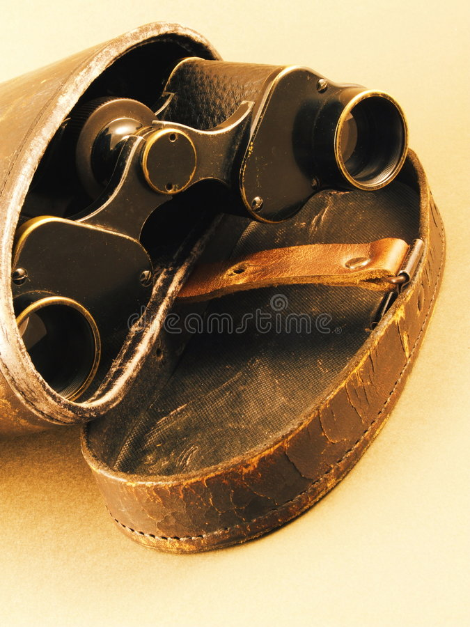 带出去的双筒望远镜 库存照片