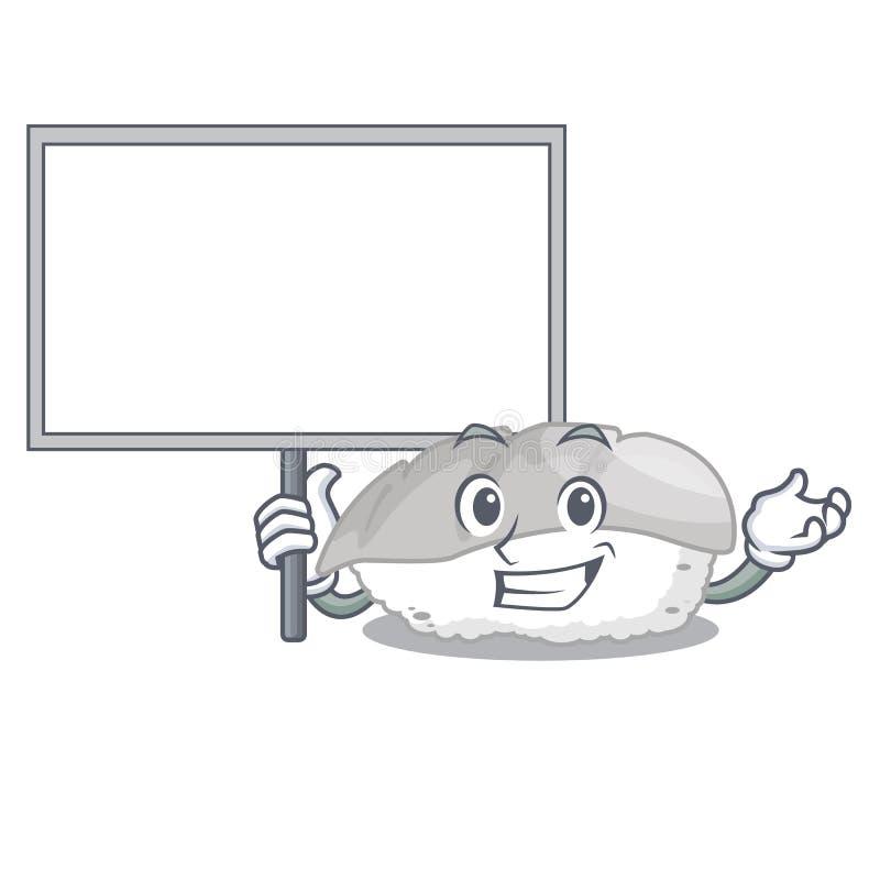 带来委员会ika寿司隔绝与动画片 向量例证
